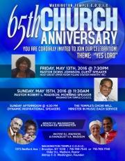 65th Church Anniversary-Blue