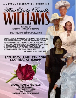 First Lady Roselle Williams Appreciation