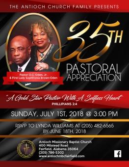 35th Pastoral Celebration Blog